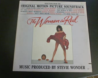 The Woman In Red Soundtrack Produced By Stevie Wonder Vinyl Record LP 6108ML Motown Records 1984