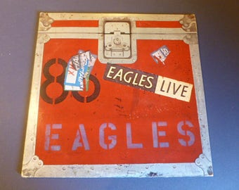 Eagles Live Vinyl Record LP BB-705 Double Album Asylum Records 1980
