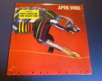 April Wine Animal Grace Vinyl Record LP ST-12311 Capital Records 1984