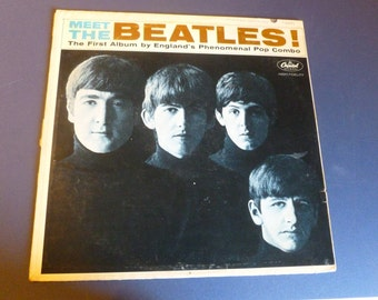 On Sale! MEET THE BEATLES Vinyl Record Lp  T2047  1964