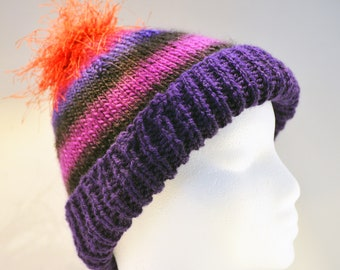 4ba3c7dc5a0 Knit ski hat. Purple