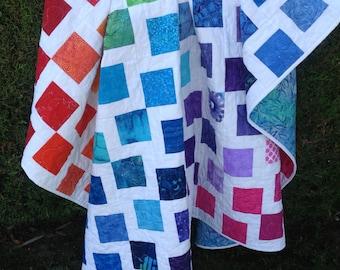 Twin Rainbow Quilt