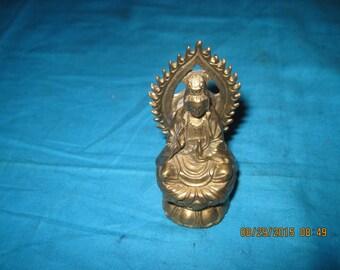 Brass Buddah   KWAN-YIN GODDESS Figurine
