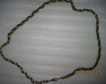 Vintage Women's TRIFARI Gold-tone Chain & Bead Necklace
