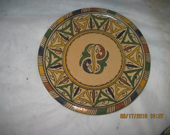 Vintage Moroccan Fes Naji 7 inch Hand painted saucer