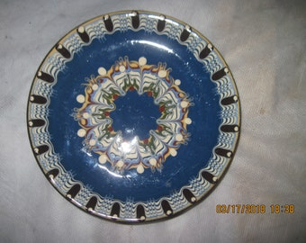 Vintage Africa/ Middle East  6 inch Hand painted saucer