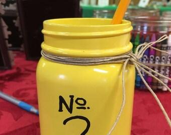 back to school mason jars