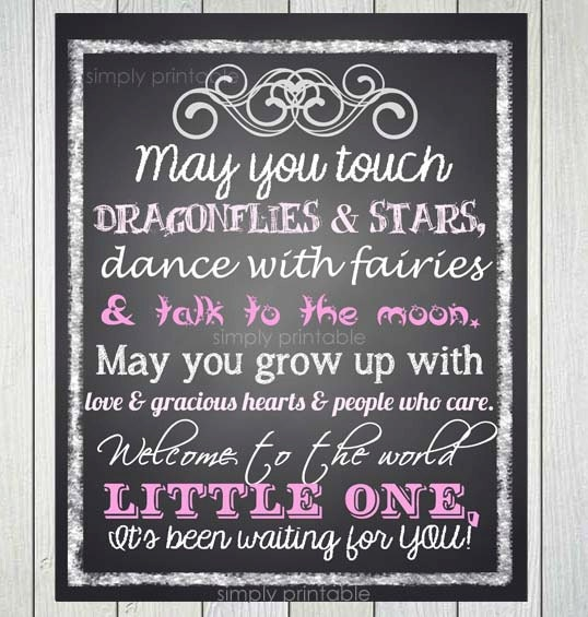 Baby Girl Quote Printable 11x14 Print