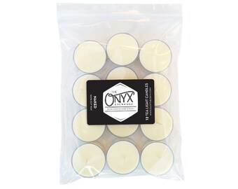 Naked - 12 Pack Unscented Tea Light Soy Candles