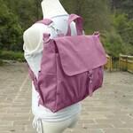 Women's Canvas Rucksack, Ladies Office Bag, Canvas Backpack Women, Purple Laptop Bag, Casual School Bookbag, Custom Messenger Bags