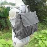 Grey Canvas Shoulder Bag, Cross Body Bag, Convertible Bag, Backpack, Rucksack, Side Bag, Satchel Bag, Unisex Bag, Student Bag, Office Bag