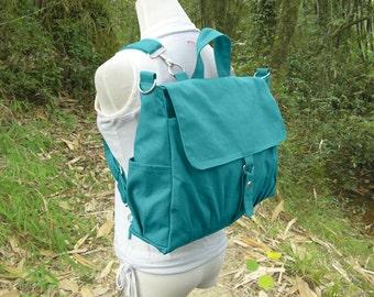 Turquoise canvas backpack messenger bag women shoulder purse cross body bag shoulder bag rucksack man travel bag handbag