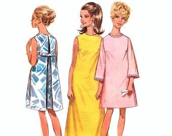503b55240812d 1960s Muu Muu Pattern, Jewel Neckline, Sleeveless, Boho, Bust 31 32, Size  18, Butterick 5064, Misses Vintage Sewing Pattern