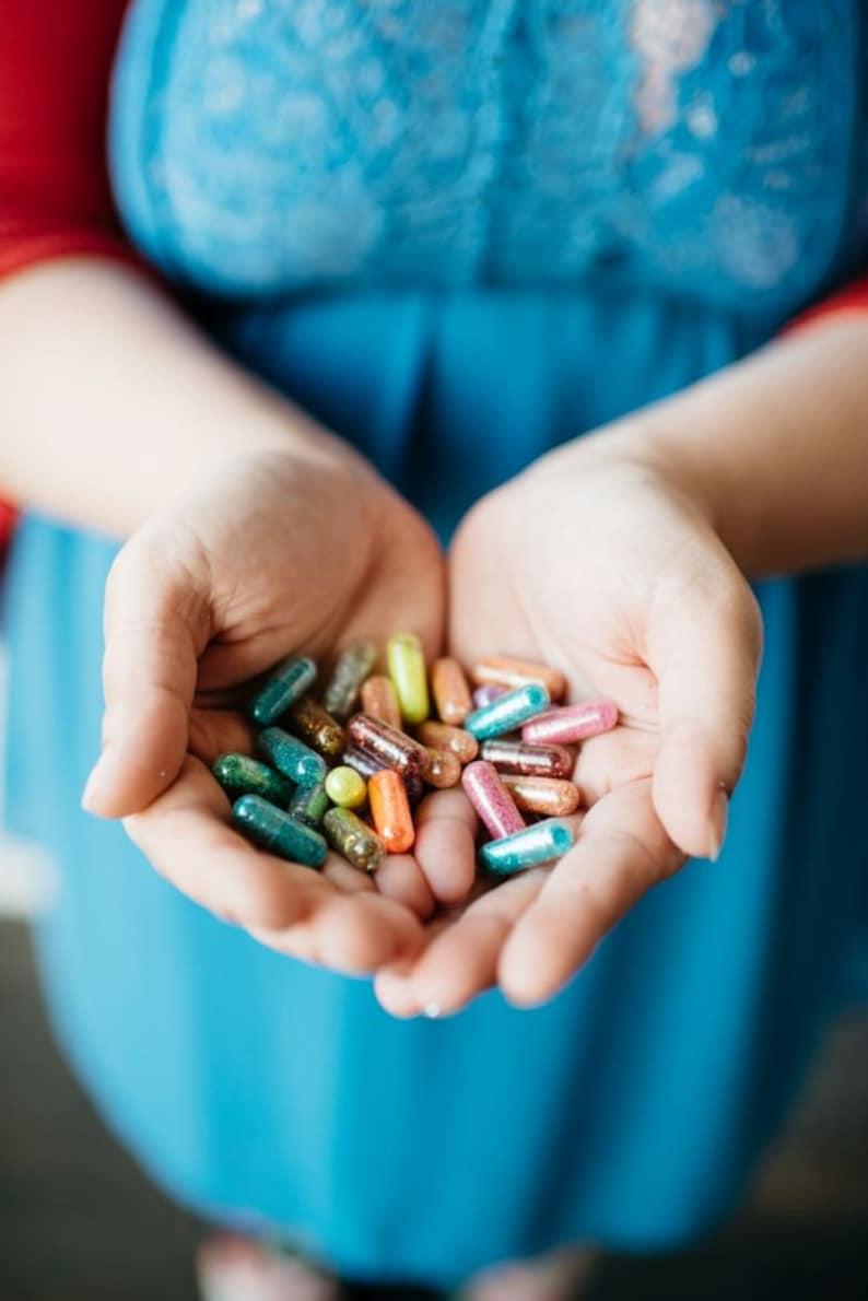 Pretty Purple Princess Glitter Pills