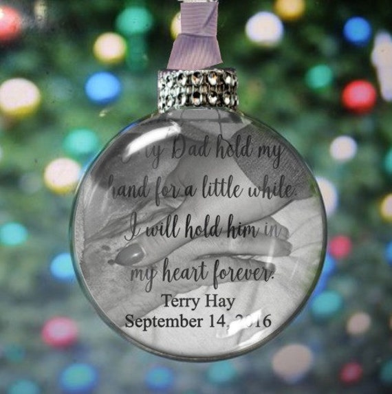 image 0 - Dad Memorial Ornament Personalized Memorial Memorial Gift Etsy