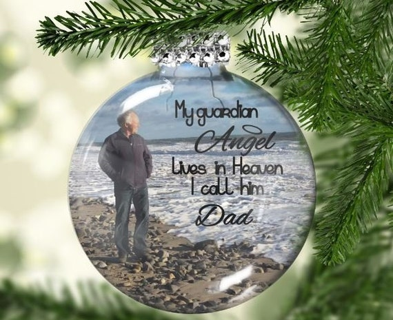 Missing Dad At Christmas.My Guardian Angel Dad Christmas Ornament