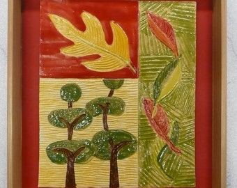 "Autumn foliage ""mosaic"" tile"