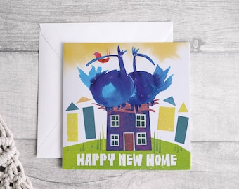 Happy New Home Square Greetings card