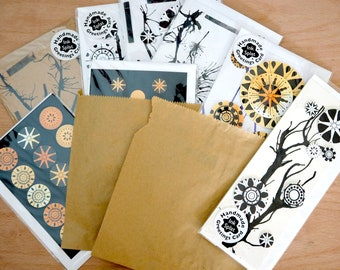 Lucky Dip!! Handmade greeting card pack - 5 cards