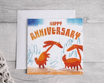 Happy Anniversary - Square Greetings card