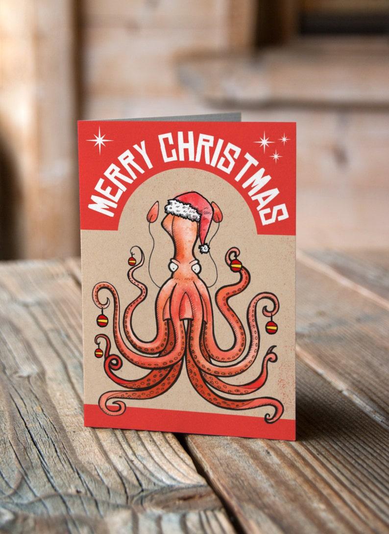 Christmas Squid Christmas Card image 0
