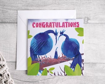 Congratulations New Baby - Square Greetings card
