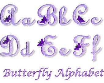 Butterflfy Alphabet - Machine Embroidery