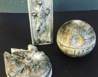 Star Wars gift set - Fathers day gift - death star Millennium Falcon Han Solo  soap - May the Force be with you