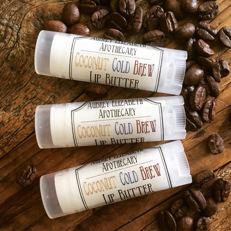 Coconut cold brew Lip butter  gift for him or her  unisex image 0