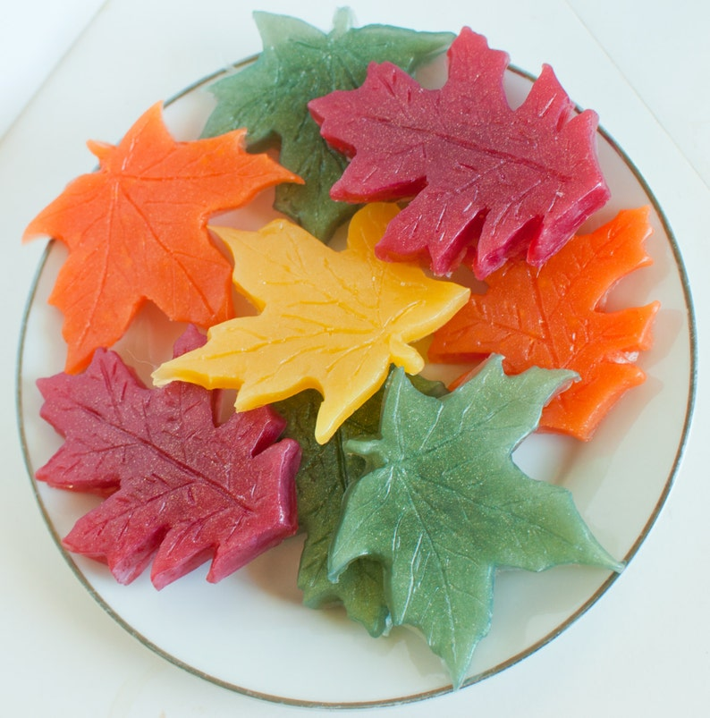 Leaf Soaps   Fall soap  Autumn  thanksgiving soap  rustic image 0