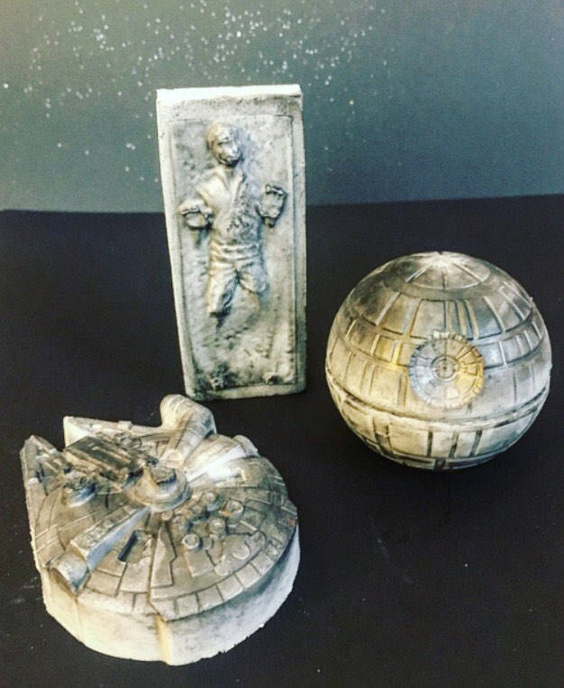 Star Wars gift set  death star Millennium Falcon Han Solo image 0