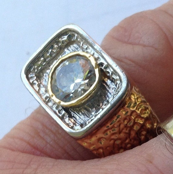 Gold filled solitaire ring   VJSE - image 1