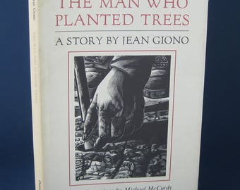 The Man Who Planted Trees: A Story by Jean Giono. Vintage Hardcover Book, 1985. 52 pages
