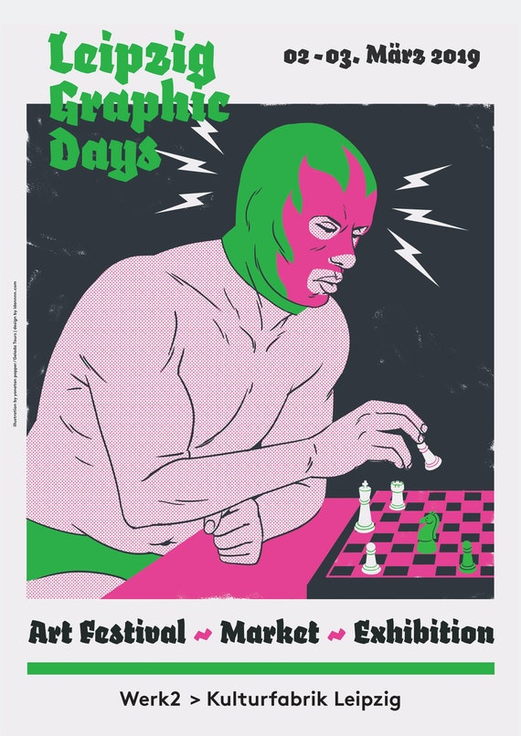 Graphic Days Leipzig A3 Original Illustration Poster By Etsy
