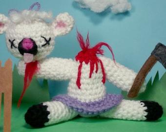 "CUSTOM Lambchopped - ""Ami-Gore-Umi"" crocheted figure"