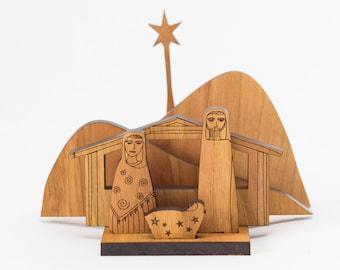 Christmas Nativity Scene - Creche - Handmade Creche - Wood Nativity Set - Nativity Set