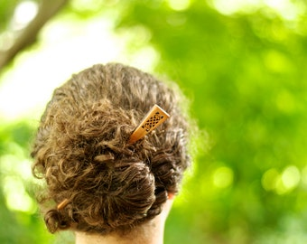 Celtic Hair stick | Hair Stick | Wood Hair Stick | Bohemian Hair Style | Natural Hair Stick | Hair Pin | Easy Up Do | Natural Hair Style