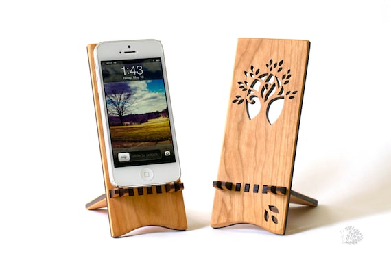 Wood iPhone Stand - Tree Design | Wooden Docking Station