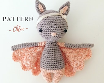 Chloe | Crochet Bat Pattern, Crochet Bat, Crochet Doll Pattern, Amigurumi Doll Pattern, Amigurumi Bat, Amigurumi Bat Pattern, PDF