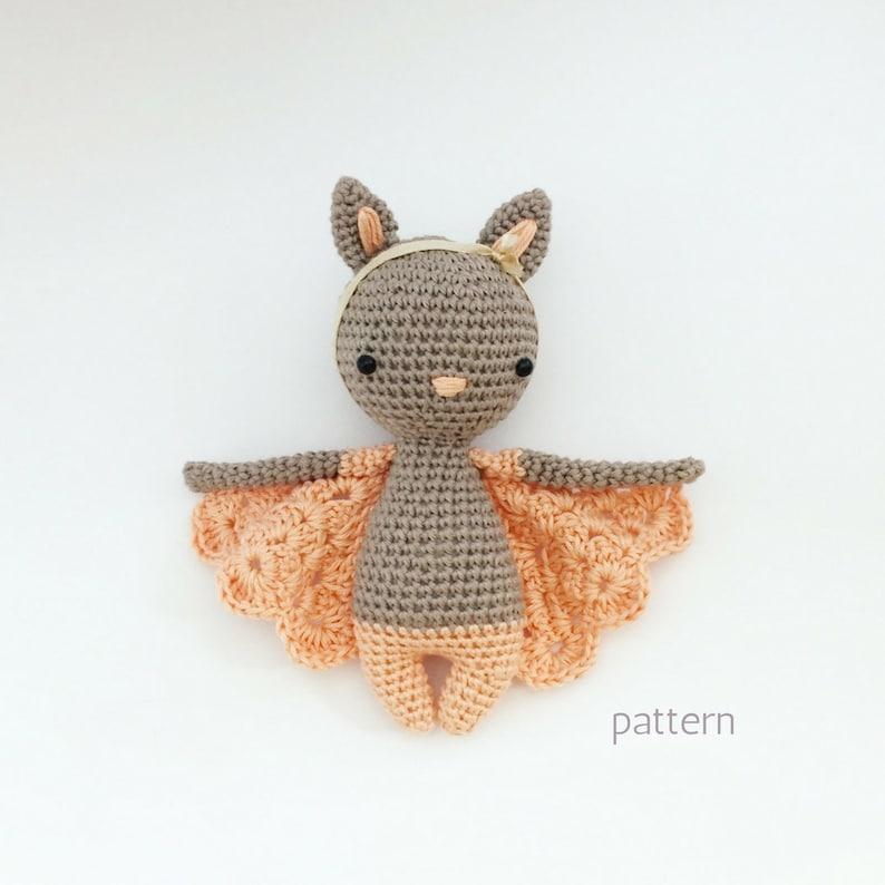 Chloe  Crochet Bat Pattern Crochet Bat Crochet Doll image 0