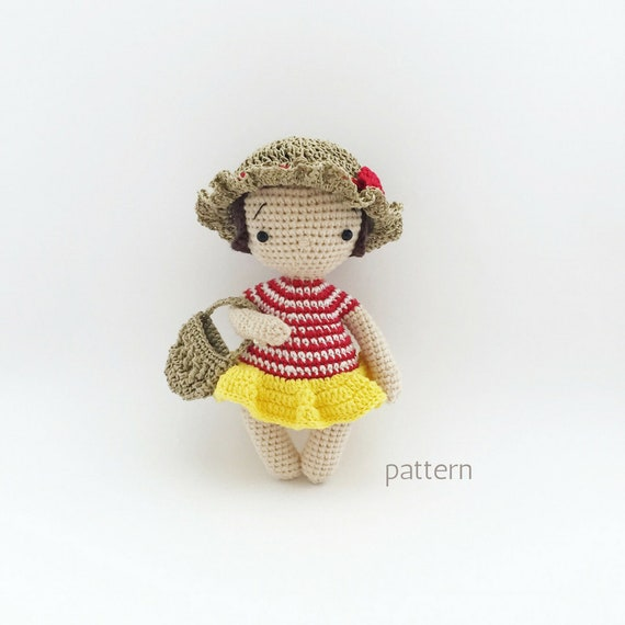 How to Crochet Doll Body Bella. No-Sewing One Piece Pattern ... | 570x570