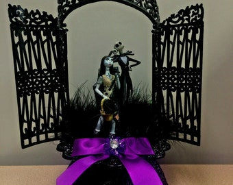 Jack and Sally inspired Decor Presents For Boyfriend Mr and Mrs Sign