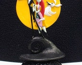 Nightmare before Christmas Wedding Cake topper Sally Jack DISNEY Halloween Funny or Glasses, or knife set or Guest Book