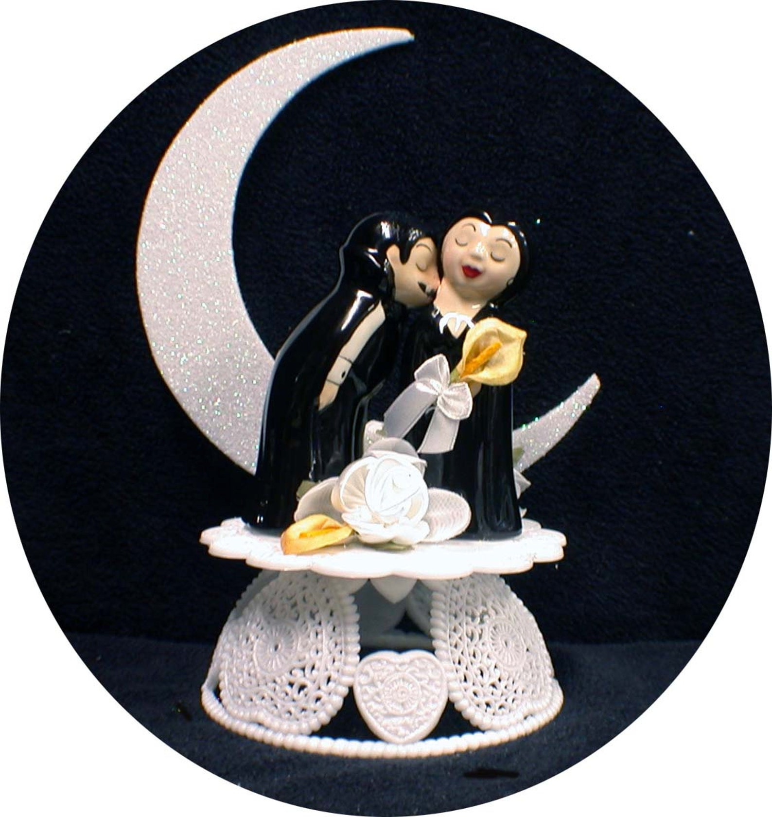 Vampire Wedding Cake Toppers
