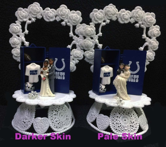 Indianapolis Colts Nfl Football Wedding Cake Topper Funny Groom Top Man Cave Foot Ball Fan Sports White Or Hispanic African