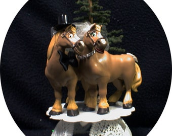 Country Western Horses Wedding Cake topper funny Barn Cowboy hay Groom top Disney