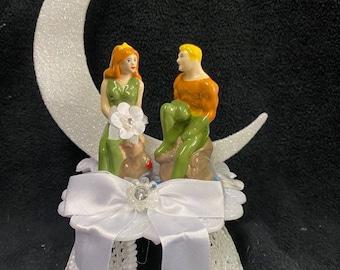 Aquaman & Mera Cake Topper Top Wedding Birthday Shower Groom engagement DC multiverse aquaman Movie