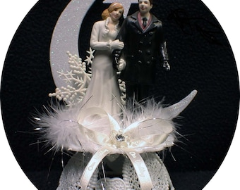 Winter Wonderland Wedding Cake Topper Snow Christmas Tree. Snow flakes Snow white x-mas Baby It is COLD outside