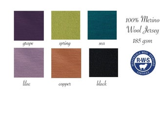 Light Weight Merino Wool Jersey