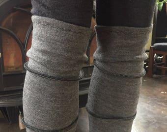 Heavy Weight Merino Wool Leg Warmers Super Soft Merino Wool Ballet Dance Exercise Active Wear Yoga Skiing Hiking Warm Legs Leggings